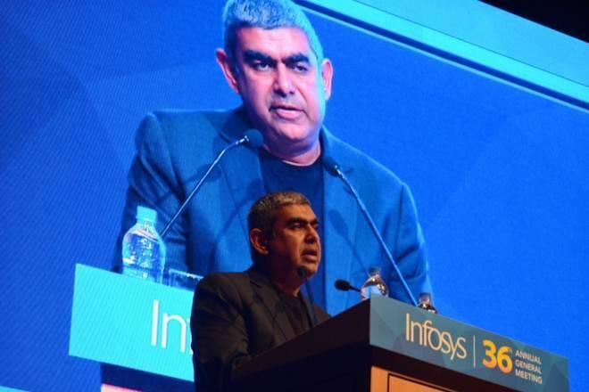 Infosys在Vishal Sikka'sexit之后,市场上的股票潜水不再是十大公司