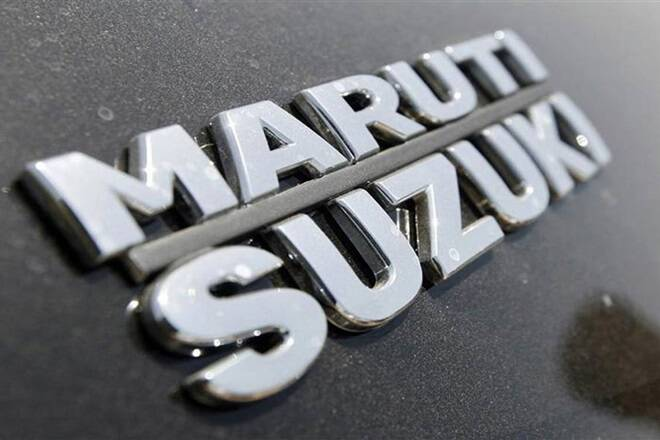 Maruti Suzuki股价在坚定的召回5,900 Super Constunits后股价下跌至两周的低位